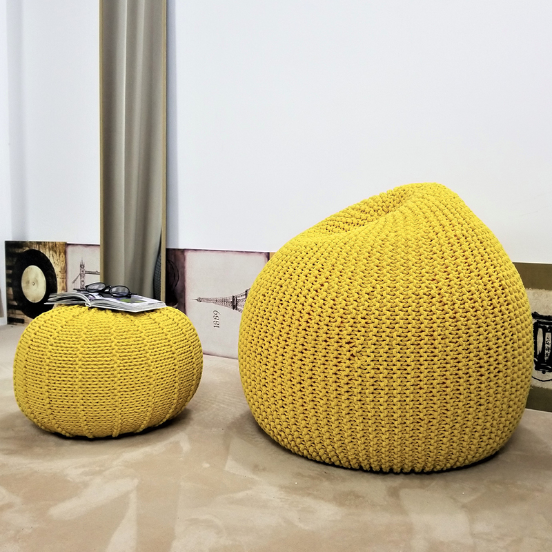 Modern Handmade European Style Lazy Bean Bag Sofa Children's Chair Living Room Single Puff Sofa Tatami Home Decoration  3