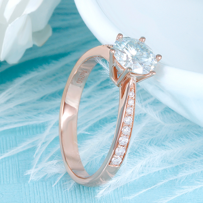 moissanite rose gold emgagement ring (3)