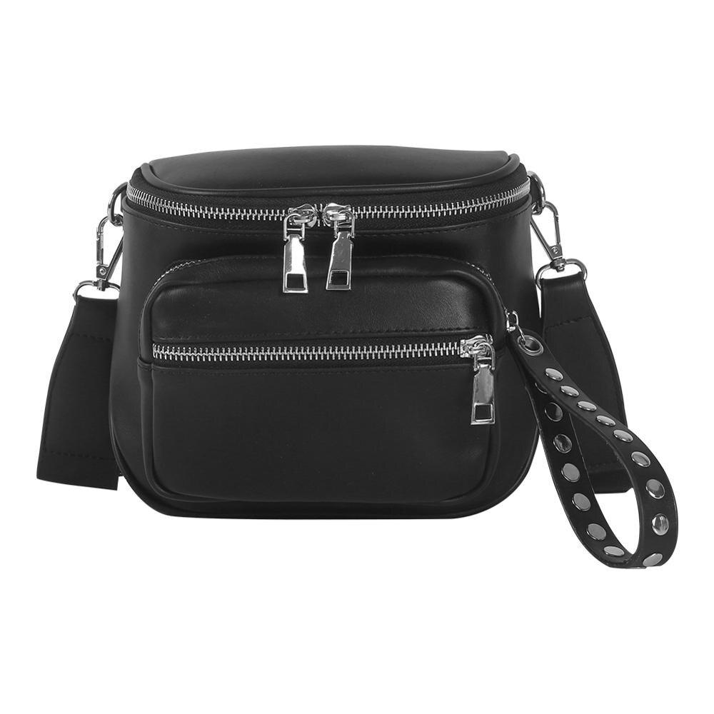 Female Fashion Casual Solid Color Shoulder Messenger Handbags Women Leather Large Capacity Zipper Crossbody Bags Bolsa Feminina