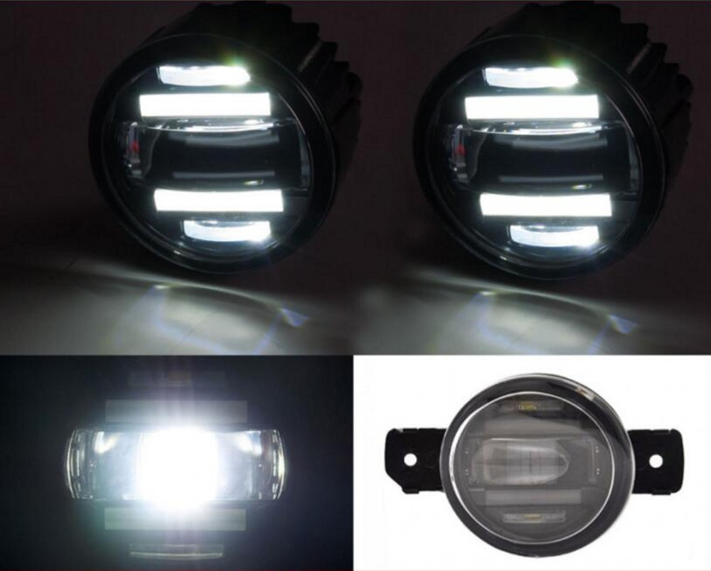 JanDeNing Car Refit Super bright 2 in 1 functions LED lens fog lamp + daylight lamp for Nissan <font><b>NV350</b></font>/March/Sunny Quest/Teana image