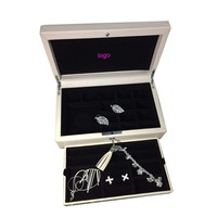Top Quality Famous Brand Jewelry Accessories Package 925 Silver Accessories Three Layers Big Leather Removable Storage