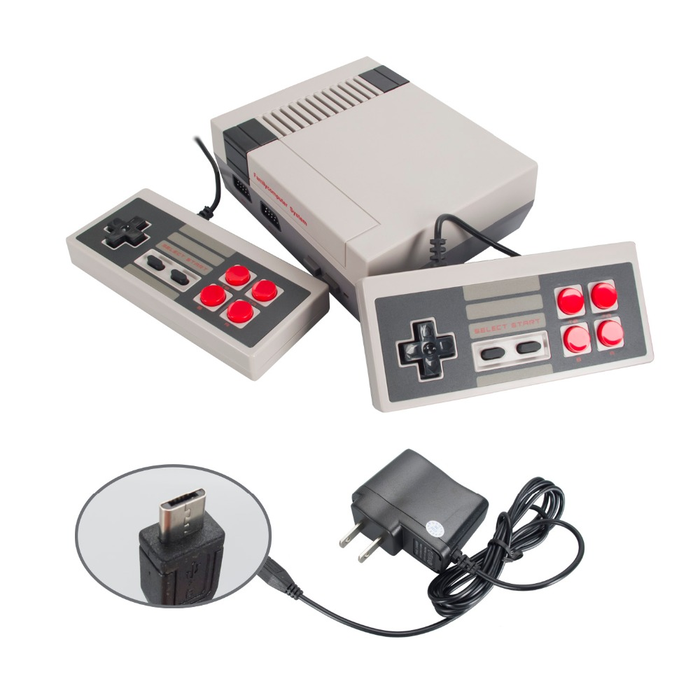 WOLSEN 8 Bit Entertainment System Mini Retro Classic TV Game Console with 500 different games nintendo entertainment system