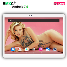 Free Shipping Android 7.0 10 inch tablet pc 10 cores 4GB RAM 64GB/128GB ROM 1920*1200 IPS Kids Gift MID GPS Tablets pcs 10.1 10
