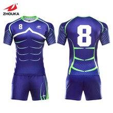 High Quality Rugby Uniforms Men's OEM Sublimation Custom Training Clothes Blue Sport wear Rugby kits Rugby Shirts Jersey аккумулятор для телефона ibatt ab663450ba для samsung rugby ii rugby ii a847 rugby iii