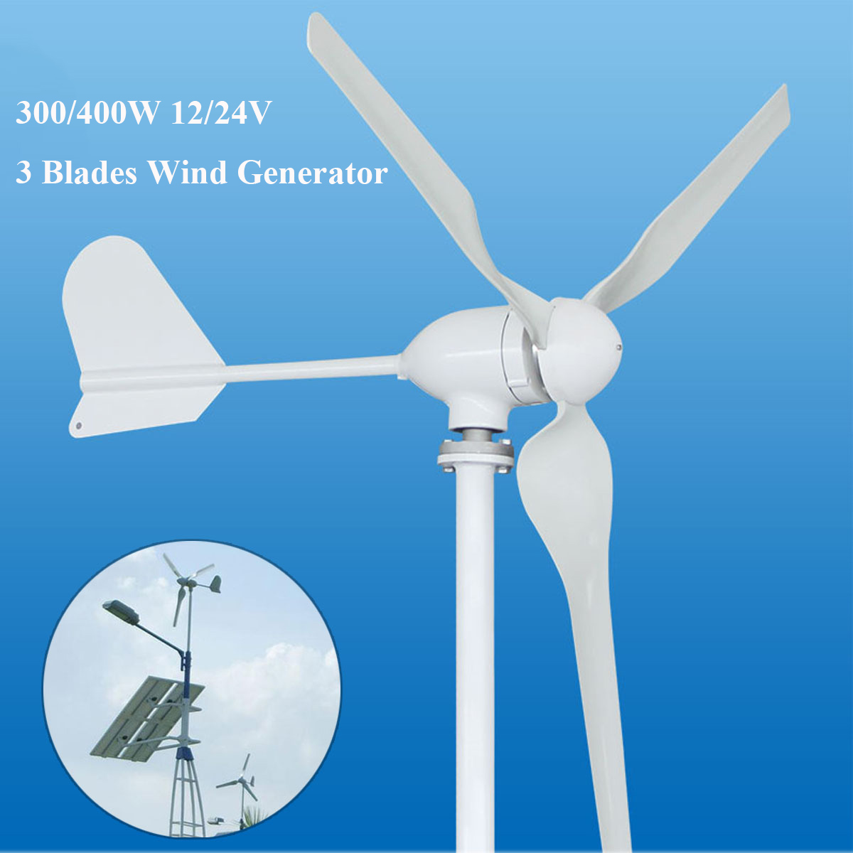New Hot Sale 300/400W 12/24V M3 Wind Generator Automatic Adjustable Generator Fit For Home Or Marine Use For Anniversary Sale