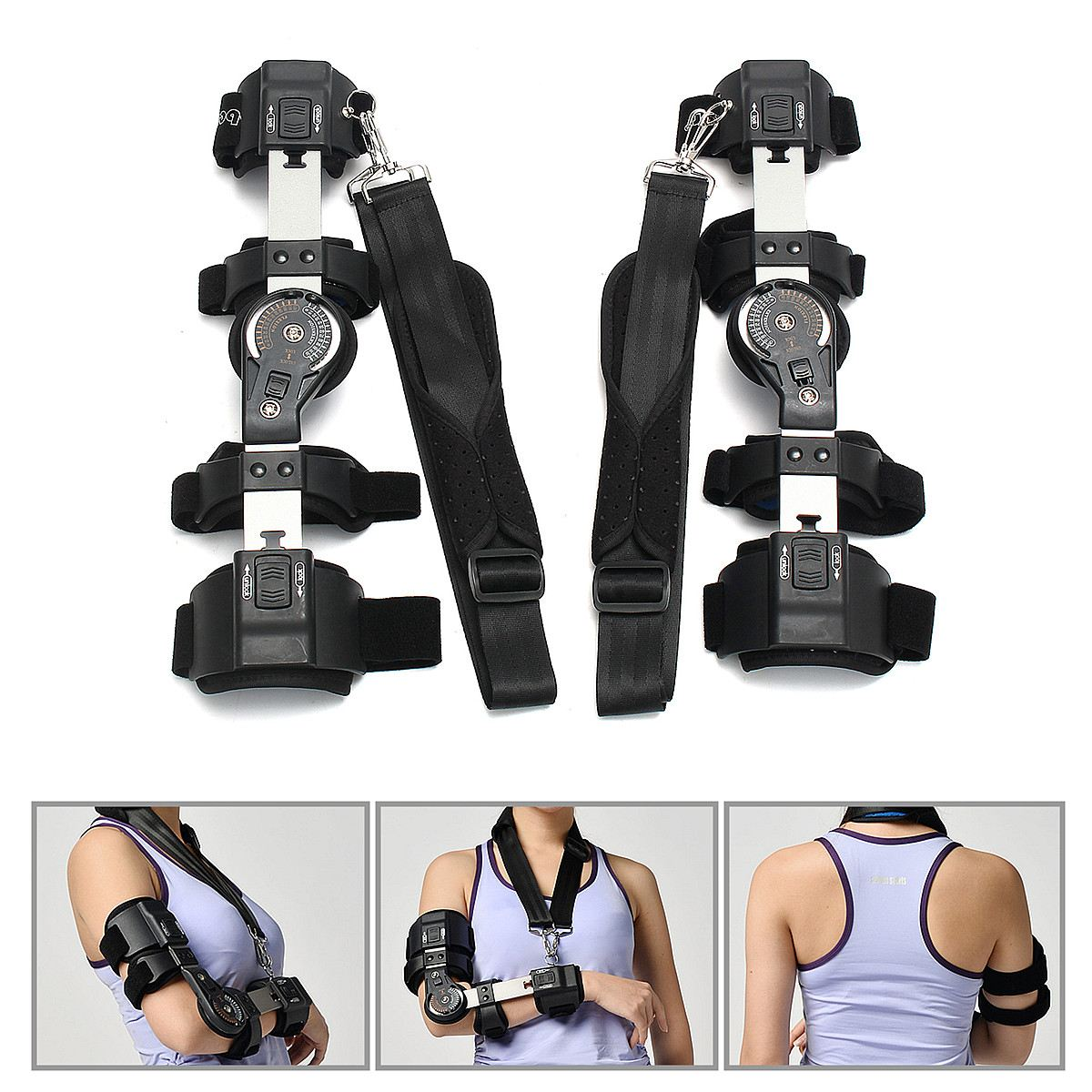 Professional Elbow Arm Sling Brace Shoulder Immobiliser Fracture Sprain Support adjustable knee joint support hinged splint wrap sprain orthosis post op brace sports knee pads fracture fixed rehabilitation