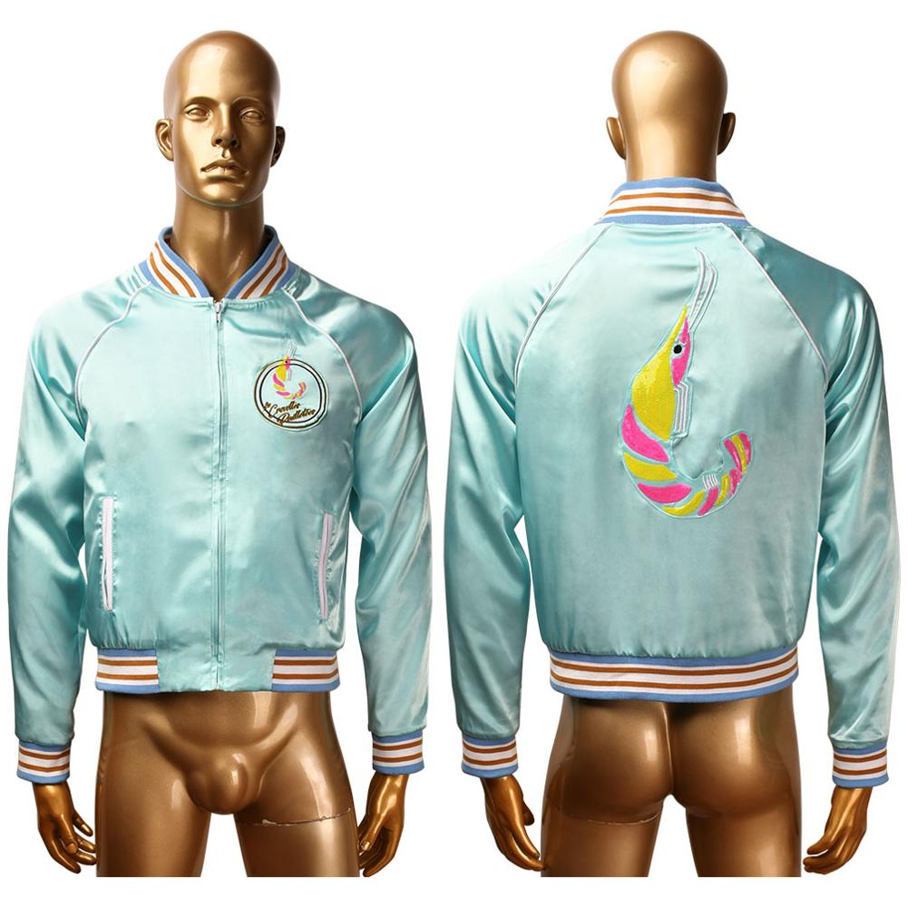 Men's Les Crevettes pailletees jacket coat outwear gay cosplay costume the Shiny Shrimps Halloween carnival costume image