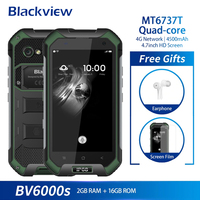 Blackview BV6000S Mobile Phone Android 6.0 MTK6737 Quad Core 2G+16GB 13MP IP68 Waterproof 4.7 Inch 4G LTE Smartphone NFC 4500mAh