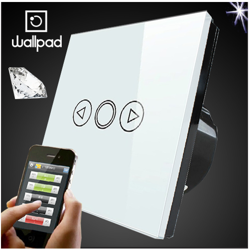 Wallpad EU UK Standard Wireless Remote control wall Dimmer touch switch, Crystal Glass White Wifi Dimmer Switch,Free Shipping eu 1 gang wallpad wireless remote control wall touch light switch crystal glass white waterproof wifi light switch free shipping