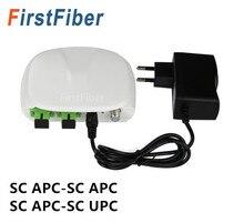SC волоконно-оптический FTTH оптический приемник SC/APC-SC/APC с WDM и AGC мини узел комнатный оптический приемник с белый пластиковый контейнер