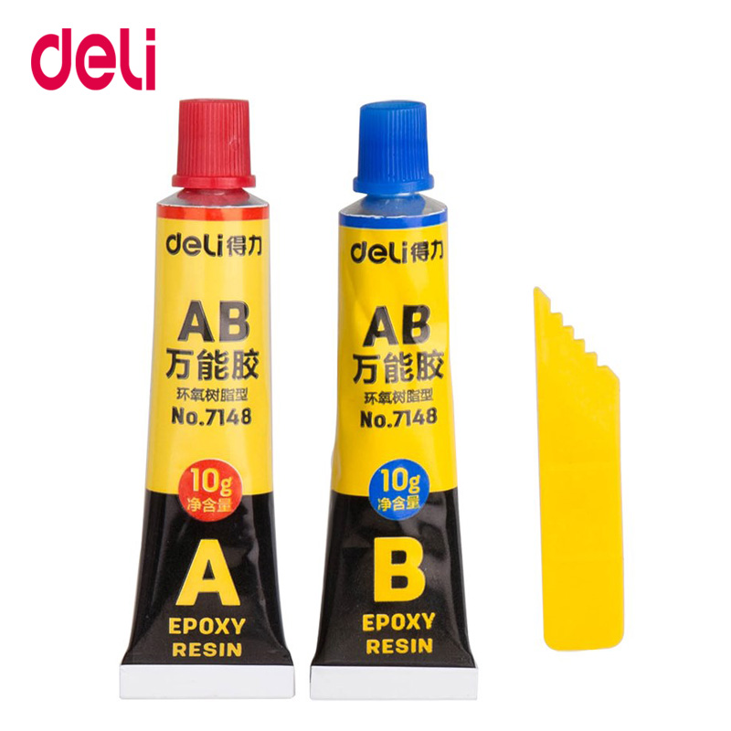 Deli Liquid Glue Set 502 Super Instant AB Glue Quick-drying Adhesive Strong Office School Supplies
