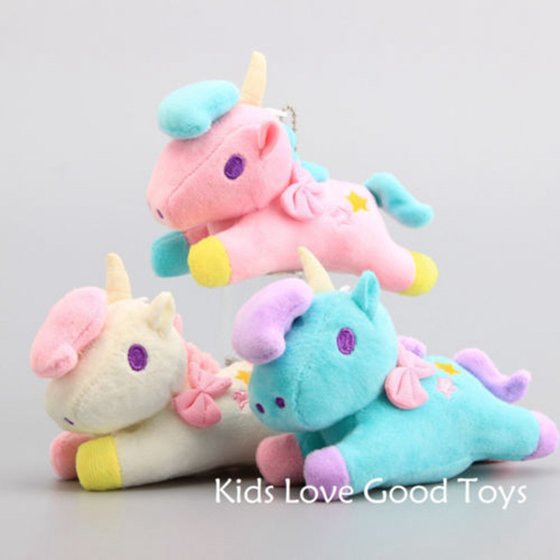 Lovely Soft Baby Hand Play Plush unicorn-Animal Monster 14cm Doll Cute Plush Stuff Toys Noverlty Toys Warm Gift For Baby Kids