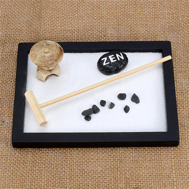 mode mini zen garten sand kit b ro geschenk dekor feng. Black Bedroom Furniture Sets. Home Design Ideas