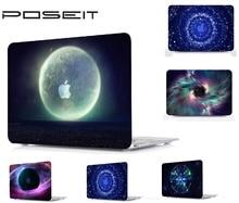 цена на Plastic Hard Case Cover Laptop Shell+Keyboard Cover+Screen Film+Dust Plugs For Macbook Air Pro Retina 11 12 13 15 TouchBar 13 15
