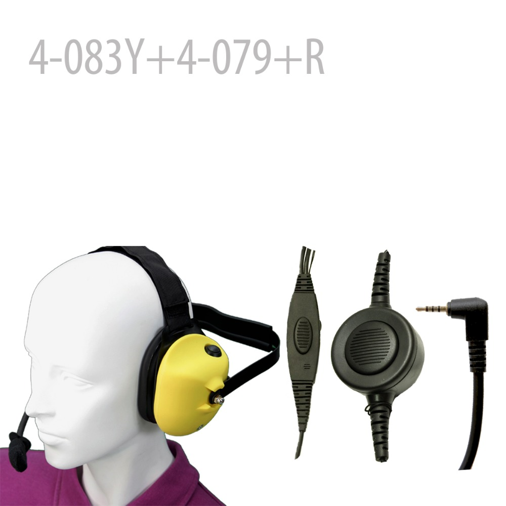 Heavy duty Noise reduction Headset-Yellow+Mini Din Plug 44-R for PX-A6  PX-2R   NKT  NKT-R3Heavy duty Noise reduction Headset-Yellow+Mini Din Plug 44-R for PX-A6  PX-2R   NKT  NKT-R3