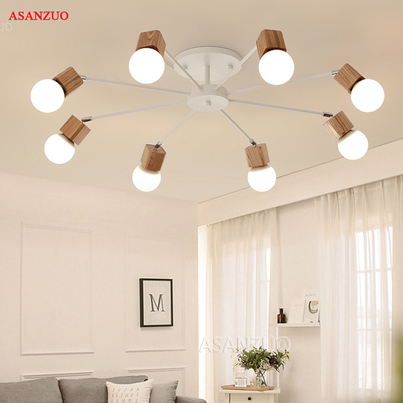 Nordic iron wood ceiling Light Modern home Living Room Bedroom aisle LED Ceiling Lamp Luminaire Lampara Nordic iron wood ceiling Light Modern home Living Room Bedroom aisle LED Ceiling Lamp Luminaire Lampara Techo