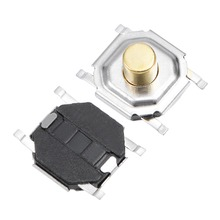 цена на UXCELL 50PCS 5x5x3mm Momentary Panel PCB SMD SMT Mount 4 Pins Push Button SPST Tactile Tact Switch For Household Appliances
