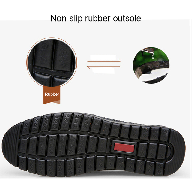 CAMEL Summer Breathable Men's Sandals Leather Loafers Non-slip Casual Men's Shoes Wear-resistant Soft Business Shoes 38-45