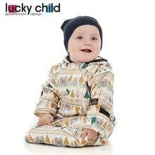 Комбинезон-конверт Lucky Child для мальчиков и девочек, арт. 63-25f (Зимние каникулы) [сделано в России, доставка от 2-х дней]