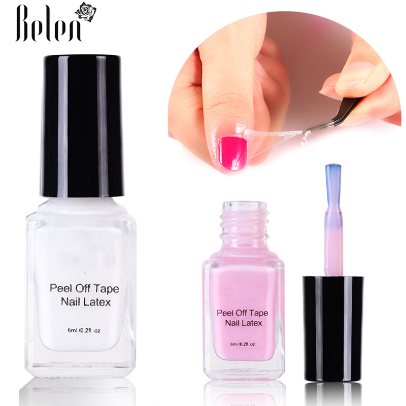 Us 1 32 30 Off Belen Peel Off Liquid Tape Nail Gel Protection Finger Skin Cream White Pink Latex Protected Glue Easy Clean Tape Latex Manicure In