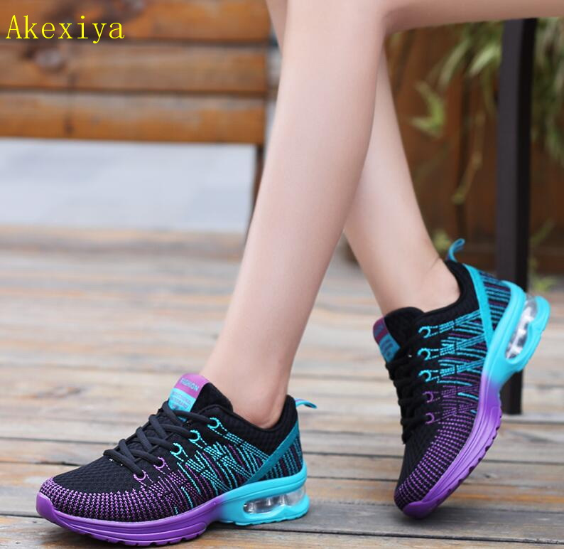 Akexiya Women Shoes 2019 New Arrivals Fashion Light Breathable Mesh Shoes Woman Casual Shoes Women Sneakers Fast Delivery
