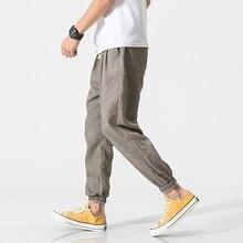 Loose Organic Linen & Cotton Men's Pants