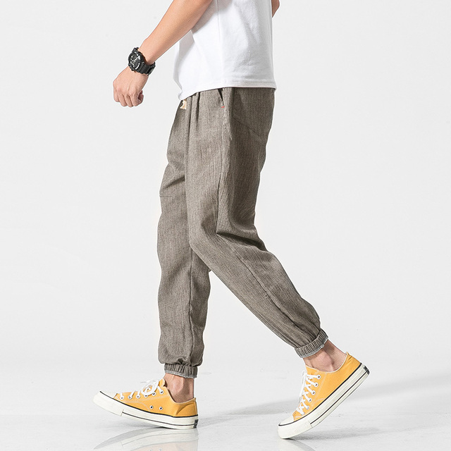 Loose Organic Linen & Cotton Men's Pants