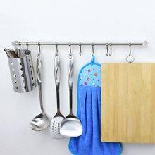 Kitchen Storage Rack Holder Organizer with Hooks Stainless Steel Cookware Spice Dinnerware Kitchenware Shelf Utensils Cutlery