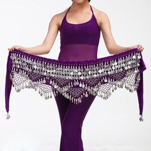 Image 3 - 11 renk kadife mısır oryantal dans paraları kemerler kadınlar için klasik oryantal dans kostümü aksesuarları cıngıllı şal Bellydance