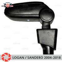 Accoudoir pour Renault Logan/Sandero 2004-2018 repose bras de voiture console centrale boîte de rangement en cuir cendrier accessoires style de voiture