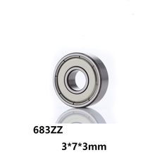 5 шт./лот 683ZZ глубокий шаровой Миниатюрный Мини подшипник качения 683-ZZ 683ZZ 3*7*3 мм 3*7*3 радиальный вал 52100 хромированная сталь
