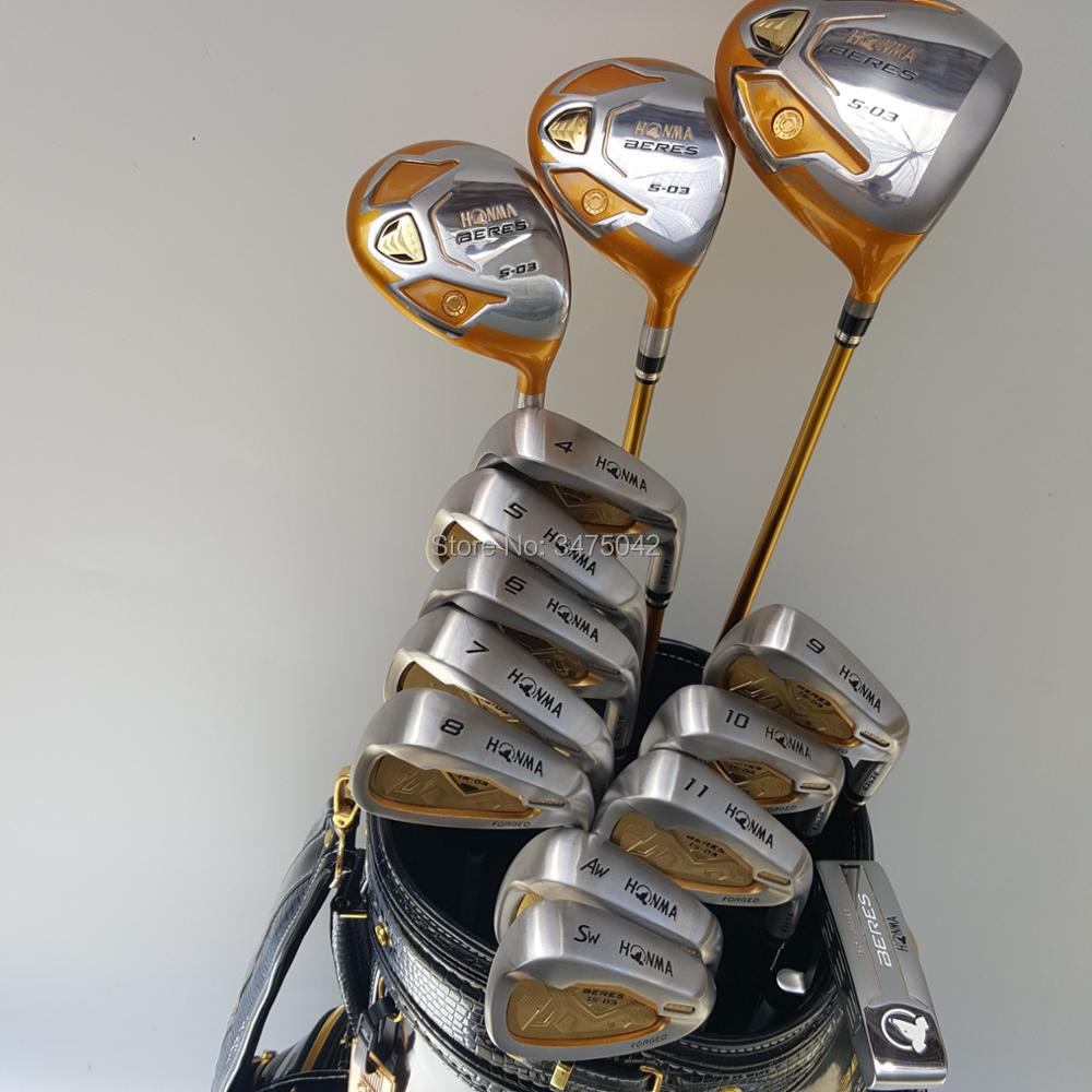 Golf Clubs new HONMA S-03 4star Compelete club set Driver+3/5 fairway wood+irons+putter and Graphite Golf shaft No ball packs womens golf clubs maruman rz complete clubs set driver fairway wood irons graphite golf shaft and cover no ball packs