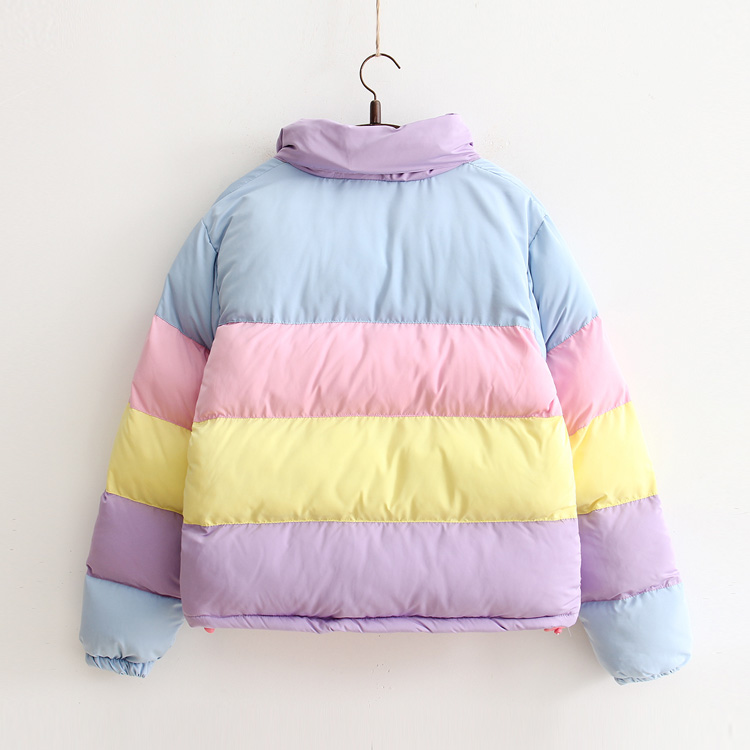 Rainbow Pastel Colorful Winter and Spring Jacket 2