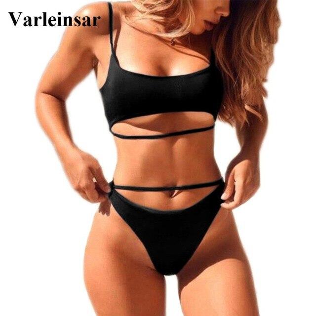 35e6e13661 7 Color Sexy High Cut Leg Sport Bikini 2019 Female Swimsuit Women Swimwear  Two-pieces