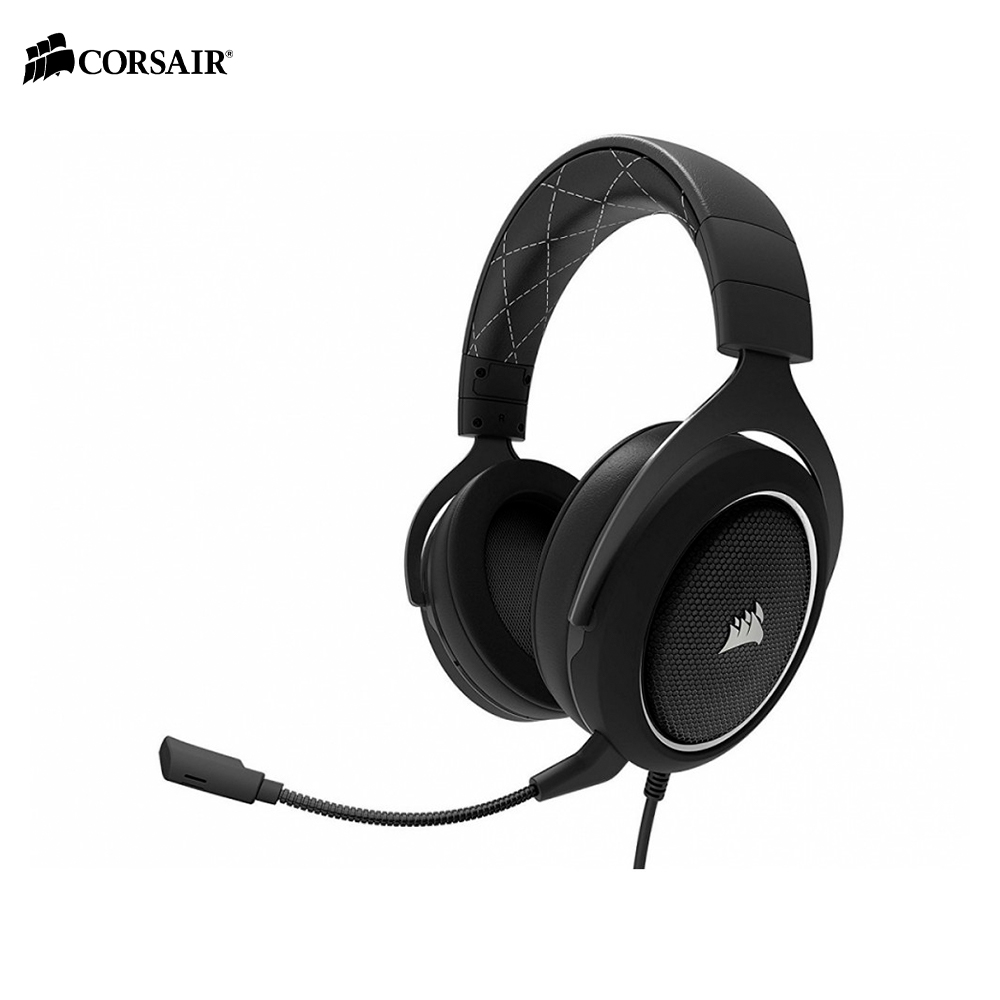 Earphones & Headphones CORSAIR HS60 WHITE Surround Gaming Headset wired esports computer PC original xiberia v10 usb gaming headphones vibration led stereo around gaming headset headphone with microphone mic for pc gamer