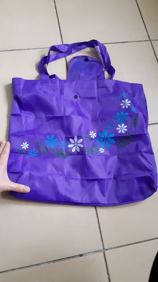 45*57cm New Fashion Printing Flowers Foldable Reusable Shopping Bags Hot EcoTote Handbags Convenient Large-capacity Storage Bags photo review