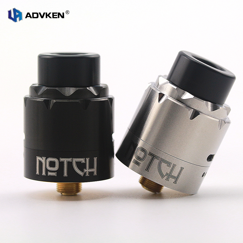 ADVKEN Authentic Notch RDA with Bottom Feed Pin with Two Pre-installed Notch Coils for Easier Vape for 510 Thread Box Mod high q notch filter 50hz low frequency shift narrow band notch notch depth single resistance adjustable wide input