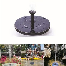 Mini Solar Fountain Water Garden Pool Pond Outdoor Panel Floating Fountains Decoration