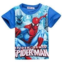 Spiderman T Shirt Kids Children S Cartoon Fashion Super Hero Characters Summer Cotton Costumes Boys Short
