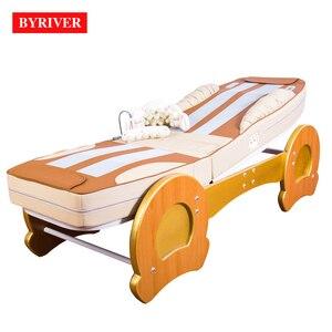 Image 1 - BYRIVER cama de masaje de terapia 3D, rodillo de Jade 9 + 4, función de reducción de inclinación de espalda