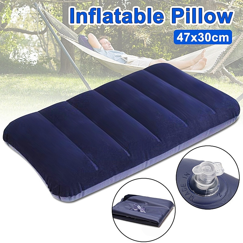 47*30cm Portable Inflatable Air Bed Travel Pillow Cushion for Outdoor Camping Hiking Backpacking Travelling