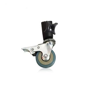 Image 5 - Konseen 3PCS Photo Studio Universal 22mm Caster Wheel for lighting stand Photo Studio Accessories Free Shipping