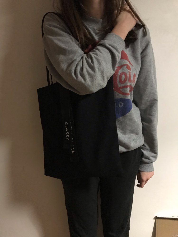canvas shopping bag Shopping Casual style Handbag Canvas material Pouch Shoulder Bag Fashion Handbag bolsa photo review