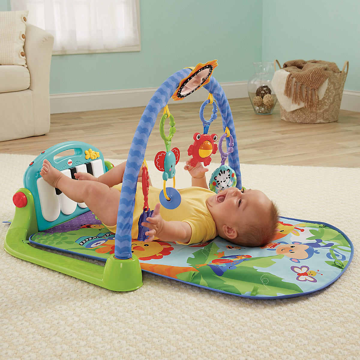 Play Mats FISHER-PRICE 3399157 Play Carpet Mat Developmental Children Educational Busy Toys for boys girls sassy seat doorway jumper 5 toys with musical play mat
