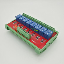 KRM08E 8-way intermediate relay module / PLC expansion board rail mounting high or low trigger 5/12/24V