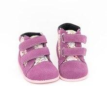 Tipsietoes 2018 новая зимняя детская обувь кожа и ткань Ботинки martin детские зимние для девочек и мальчиков модные кроссовки Chaussure Fille