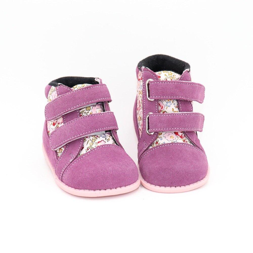 Tipsietoes 2018 nuevos zapatos de invierno para niños botas Martin de cuero y tela niños nieve niñas niños botas de goma zapatillas de moda