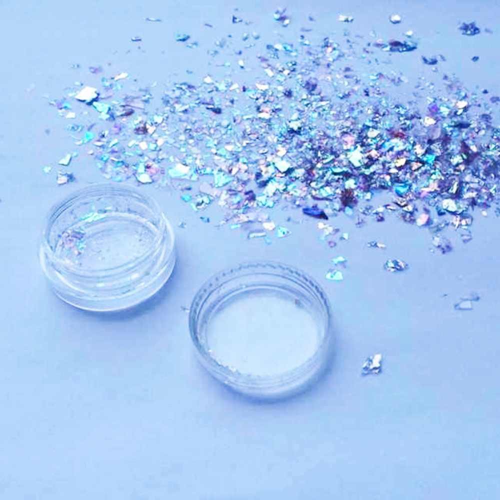 Baru Kedatangan Segitiga Laser Payet Shiny Glitter Confetti Bentuk DIY Nail Art Tips Dekorasi 4mm PINK