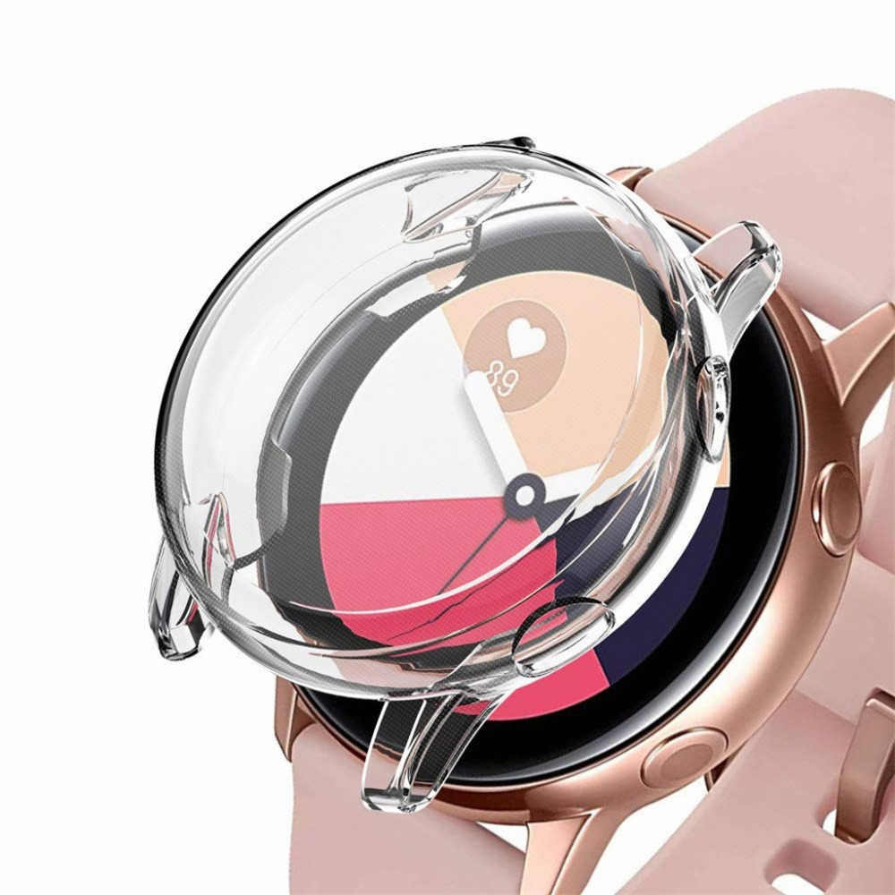 Protector Case Slim Smart Watch active Screen TPU Protect Shell Silicone for Samsung Galaxy Watch Active 40mm Full Case Cover