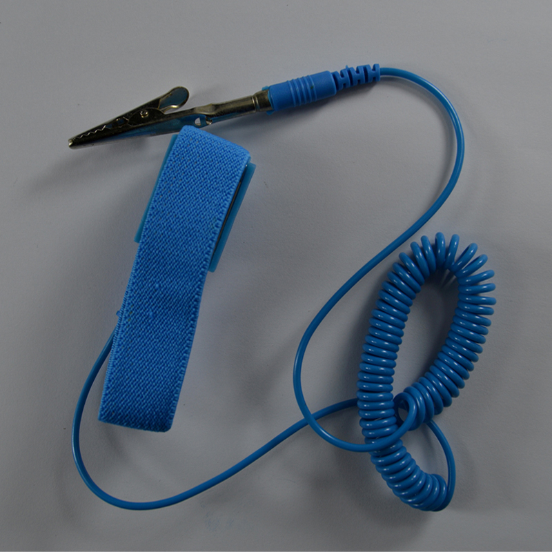 PVC Cordless wireless Clip Antis tatic Wrist band Esd Wrist strap Discharge cables for Electrician IC PLCC worker Safety gloves st16c450cj plcc 44